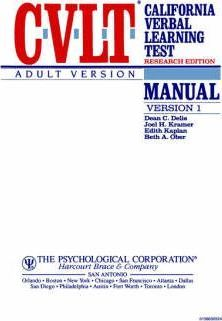 Cvlt Research Edition Adult Version Manual