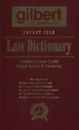 Pocket Size Law Dictionary--Burgundy