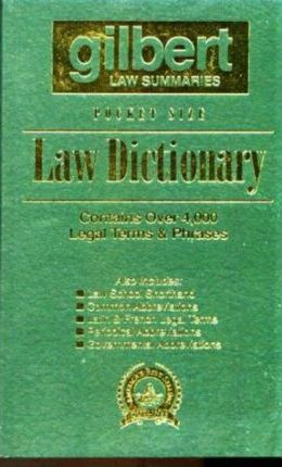 Gilbert's Pocket Size Law Dictionary--Green