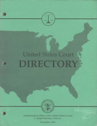 United States Court Directory December 1996