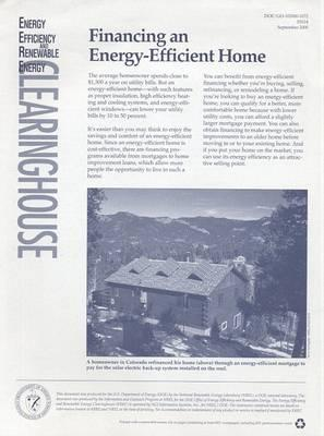 Financing an Energy-Efficient Home