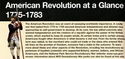 The American Revolution at a Glance, 1775-1783