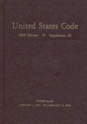 United States Code, 2000, Supplement 3, V. 4