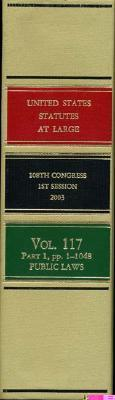 United States Statutes at Large, V. 117, 2003, 108th Congress, 1st Session, Pts. 1-3