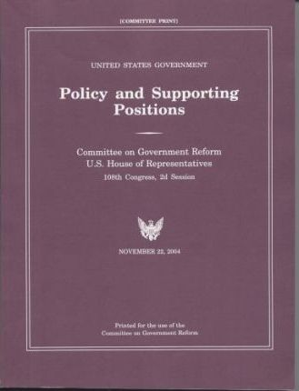 United States Government Policy and Supporting Positions (2004)