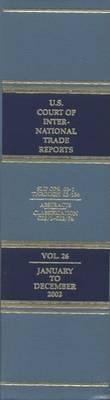 United States Court of International Trade Reports, Volume 26