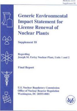 Generic Environmental Impact Statement for Renewal of Nuclear Plants, Supplement 18