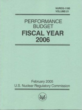 Performance Budget, Fiscal Year 2006