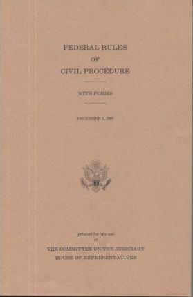 Federal Rules of Civil Procedure with Forms, December 31, 2005