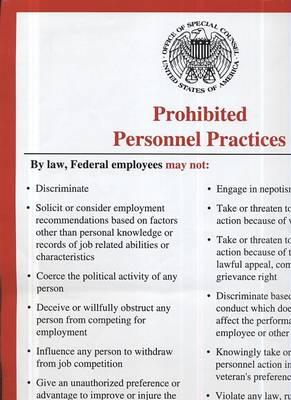 Prohibited Personnel Practices (Poster)