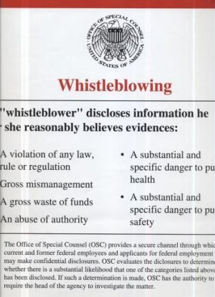 Whistleblowing (Poster)