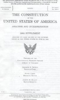The Constitution of the United States of America, Analysis and Interpretation, 2006 Supplement