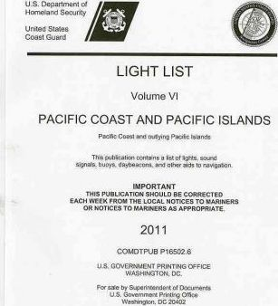 Light List, 2010, V. 6, Pacific Coast and Outlying Pacific Islands