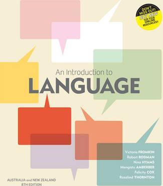 An introduction to language with student resource access 12 months an introduction to language with student resource access 12 months australia and new zealand edition fandeluxe Choice Image