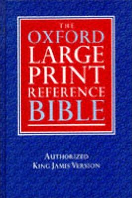 Bible: Oxford Large Print Reference Bible with Chain References