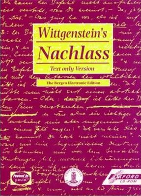 Wittgenstein's Nachlass: Windows Individual User Version, Text and Facsimiles