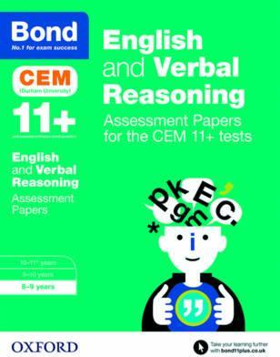 Bond 11+ English and Verbal Reasoning Assessment Papers for the CEM 11+ tests