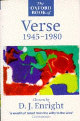 The Oxford Book of Verse, 1945-80