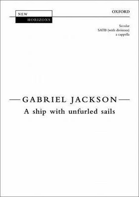 A ship with unfurled sails