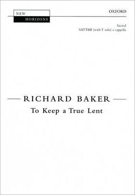 To Keep a True Lent