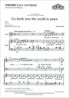 Go forth into the world in peace