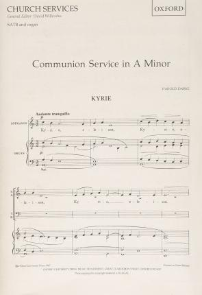 Communion Service in A minor