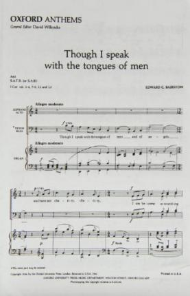 Though I speak with the tongues of men