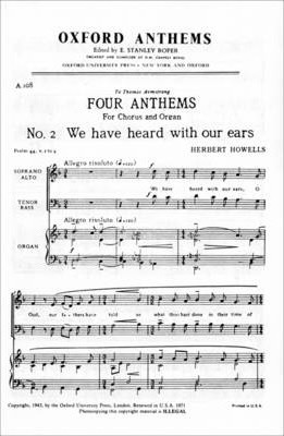 We Have Heard with Our Ears: For SATB and Organ