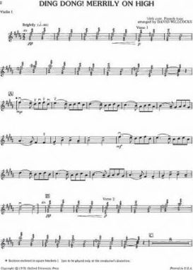 Ding Dong! Merrily on High: Violin 1