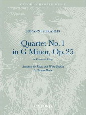 Piano Quartet No. 1 in G Minor Arranged for Piano and Wind Quintet: Score and Parts