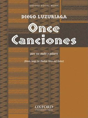 Once Cananiones Para Voz Media Y Guitarra (Eleven Songs for Medium Voice and Guitar)