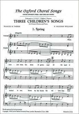 Spring: Spring For Unison Voices and Piano No. 1