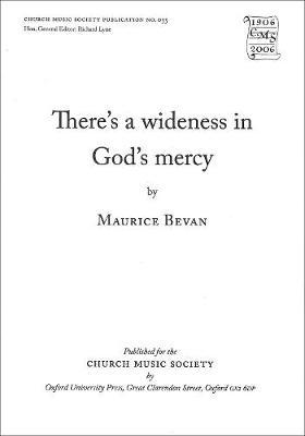 There's Wideness in God's Mercy: There's wideness in God's mercy Vocal Score