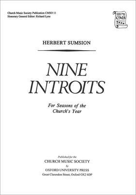 Nine Introits for Seasons of the Church's Year