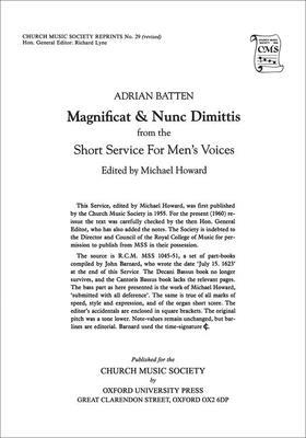 Magnificat and Nunc Dimittis from the Short Service