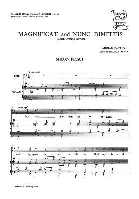 Magnificat and Nunc Dimittis from the Fourth Service