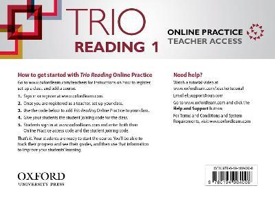 Trio Reading: Level 1: Online Practice Teacher Access Card