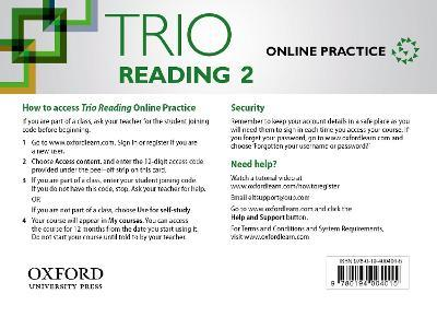 Trio Reading: Level 2: Online Practice Student Access Card