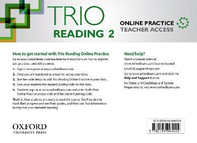 Trio Reading: Level 2: Online Practice Teacher Access Card
