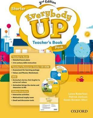 Everybody Up: Starter Level: Teacher's Book Pack with DVD, Online Practice and Teacher's Resource Center CD-ROM