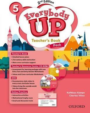 Everybody Up: Level 5: Teacher's Book Pack with DVD, Online Practice and Teacher's Resource Center CD-ROM: Everybody Up: Level 5: Teacher's Book Pack with DVD, Online Practice and Teacher's Resource Center CD-ROM Level 5