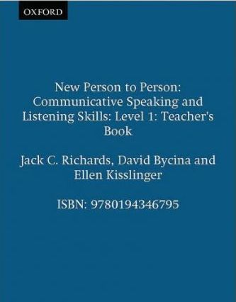 New Person to Person: Teacher's Book Pt.1