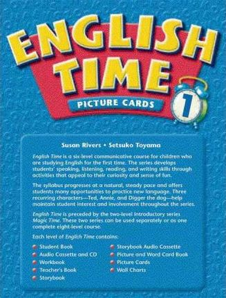 English Time: Picture and Word Card Book Level 1