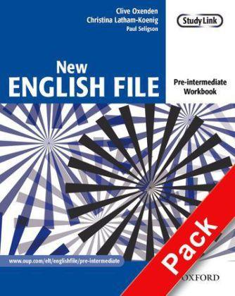 New English File: Pre-intermediate: Workbook with key and MultiROM Pack
