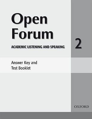 Open Forum 2: Answer Key and Test Booklet