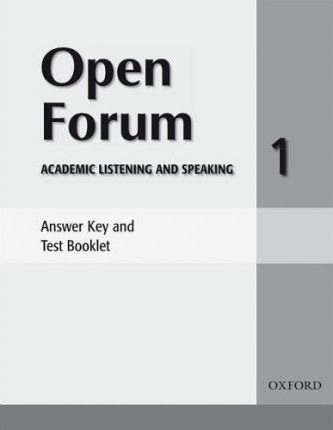 Open Forum 1: Answer Key and Test Booklet