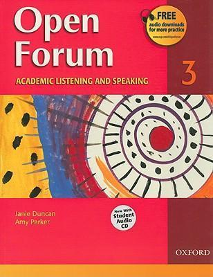 Open Forum 3: Academic Listening and Speaking