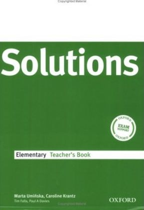 Solutions Elementary: Teacher's Book