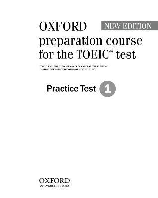 Oxford preparation course for the TOEIC (R) test Practice Test 1