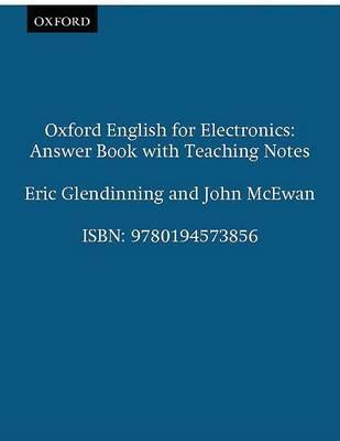 Oxford English for Electronics: Answer Book with Teaching Notes